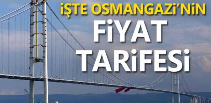 Osmangazi Köprüsü Geçiş Ücreti Belli Oldu