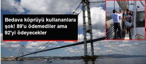 Osmangazi Köprüsünü Kullananlar Dikkat !