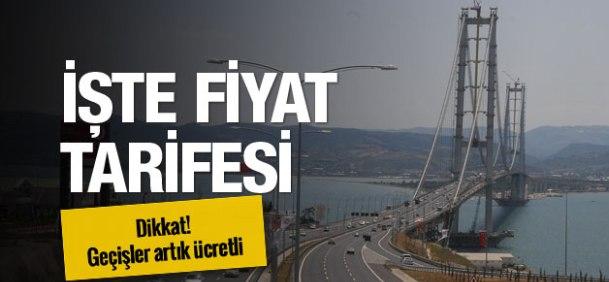 Osmangazi Köprüsü Geçiş Ücretleri
