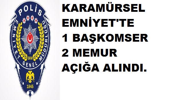 Karamürsel'de 3 Polis Açığa Alındı