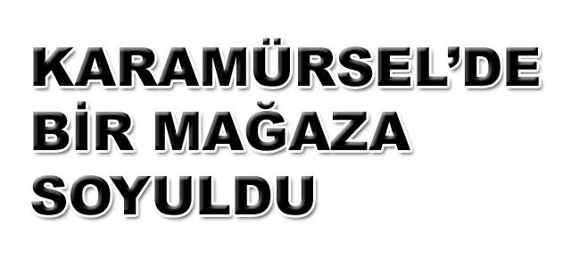 Karamürsel'de Elektronik Mağazasına Hırsız Girdi