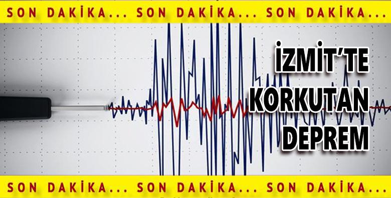 İzmit'te Korkutan Deprem