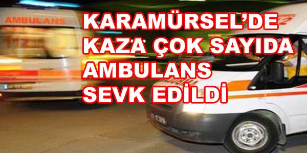 Karamürsel'de Kaza Çok Sayıda Yaralı Var