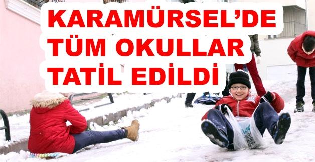 Karamürsel'de Tüm Okullar Tatil Edildi