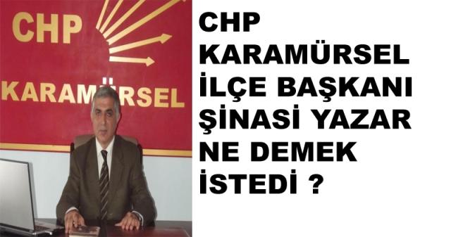 CHP'li Yazar Ne Demek İstedi?