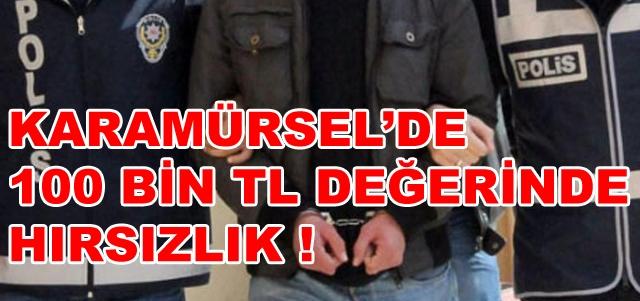 Karamürsel'de 100 Bin Tl'lik Hırsızlık