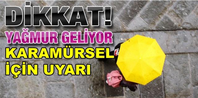 Karamürsel'e Yağış Uyarısı