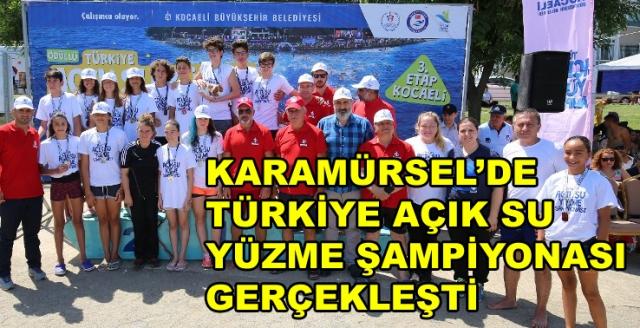 Açık Su Yüzme Şampiyonası Karamürsel'de Başladı
