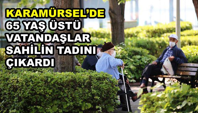 Karamürsel'de 65 Yaş Üstü Vatandaşlar Dışarı Çıktı