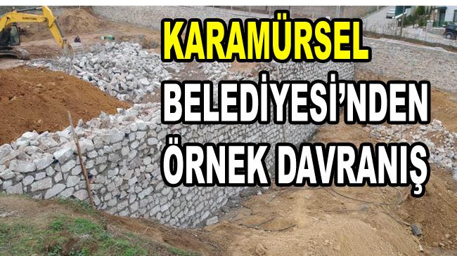 Karamürsel Belediyesi'nden Örnek Uygulama