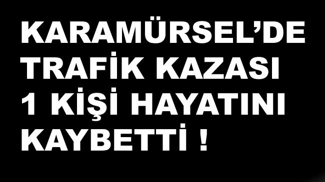 Karamürsel'de Trafik Kazası 1 Ölü