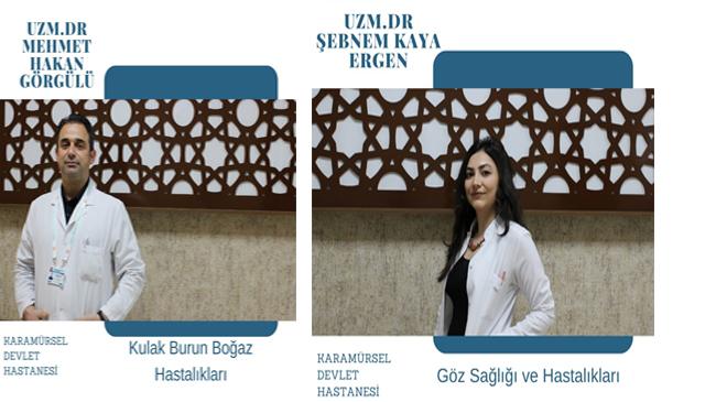 Devlet Hastanesi'ne 2 Yeni Doktor Atandı