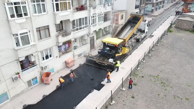 Park Caddesi Asfalt Çalışmaları Başladı