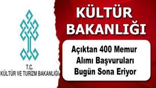Kültür Bakanlığına 400 memur alımı