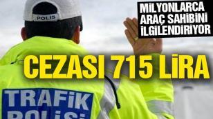 Araç Sahipleri Dikkat Cezası 715 TL