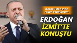 Cumhurbaşkanı Erdoğan İzmit'te Konuştu