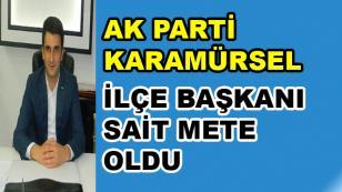 AK Parti Karamürsel İlçe Başkanı Sait Mete Oldu