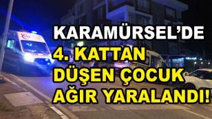 Karamürsel'de 4. kattan Düşen Çocuk Yaralandı