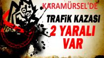 Karamürsel'de 2 Otomobil Kafa Kafaya Çarpıştı