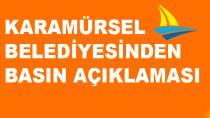 Karamürsel Belediyesinden Basın Açıklaması