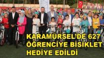 Karamürsel'de 627 Öğrenciye Bisiklet Dağıtıldı