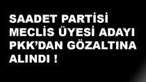 Saadet Partisi Meclis Üyesi Adayı PKK'dan Gözaltına Alındı