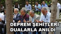 Deprem Şehitleri Karamürsel'de Dualarla Anıldı
