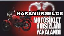 Karamürsel'de Motosiklet Hırsızları Yakalandı