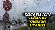 Kocaeli İçin Şiddetli Yağmur Uyarısı