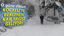 Kocaeli'ye Kar Yağışı Uyarısı