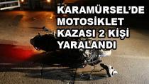 Karamürsel'de Motosiklet Kazası 2 Yaralı