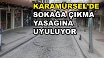 Karamürsel'de Yasağa Uyuluyor