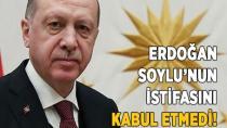 Erdoğan Soylu'nun İstifasını Kabul Etmedi